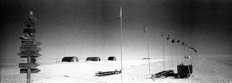 <i>Main Street: </i>Photography was an important tool for documentation in polar expeditionary endeavors from the early 20th century. With late modern technology largely out of the picture and vintage look, this picture is a testimony to that legacy.