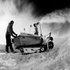 Tim working the snow blower.