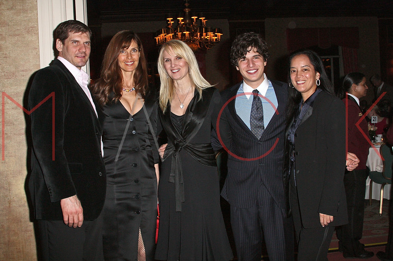 NEW YORK - APRIL 26:  Professional ice hockey player Alexei Valeryevich Yashin, model Carol Alt, Sara Herbert-Galloway, Justin Galloway and Cassandra Seidenfeld attend the 2nd Annual National Meningitis gala at the New York Athletic Club on April 26, 2010 in New York City.  (Photo by Steve Mack/S.D. Mack Pictures) *** Local Caption *** Alexei Valeryevich Yashin; Carol Alt; Sara Herbert-Galloway; Justin Galloway; Cassandra Seidenfeld