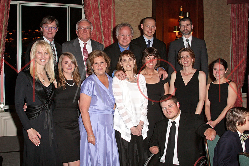 NEW YORK - APRIL 26:  (Top Row)(L-R) Richard Thomas, Dr. Roger W. Yurt, Gary Springer, Former New York Ranger and Nancy Ford Springer Inspiration Award recipient Adam Graves, Tom Clark with the CDC, (Bottom Row)(L-R) Sara Herbert-Galloway, Olivia Springer, guest, Lynn Bozof, Dr. Amanda Cohn with the CDC, Para-Olympic Gold Medalist, Nick Springer and Dr. Nancy Messionier attend the 2nd Annual National Meningitis gala at the New York Athletic Club on April 26, 2010 in New York City.  (Photo by Steve Mack/S.D. Mack Pictures) *** Local Caption *** Richard Thomas; Roger W. Yurt; Gary Springer; Adam Graves; Tom Clark; Sara Herbert-Galloway; Olivia Springer; guest; Lynn Bozof; Amanda Cohn; Nick Springer Dr. Nancy Messionier