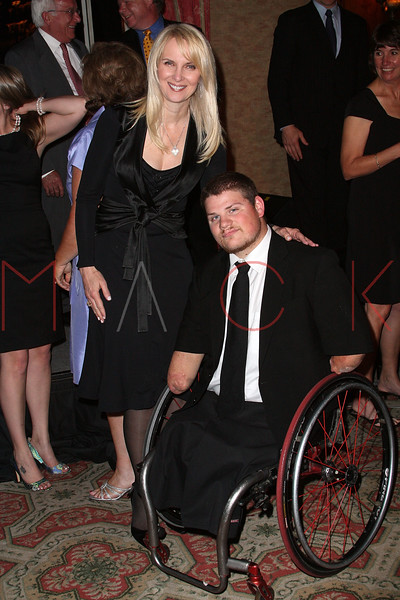 NEW YORK - APRIL 26:  Sara Herbert-Galloway and Para-Olympic Gold Medalist, Nick Springer attend the 2nd Annual National Meningitis gala at the New York Athletic Club on April 26, 2010 in New York City.  (Photo by Steve Mack/S.D. Mack Pictures) *** Local Caption *** Sara Herbert-Galloway; Nick Springer