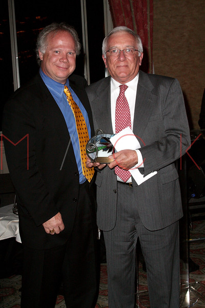 NEW YORK - APRIL 26:  Gary Springer presents Dr. Roger W. Yurt with an award at the 2nd Annual National Meningitis gala at the New York Athletic Club on April 26, 2010 in New York City.  (Photo by Steve Mack/S.D. Mack Pictures) *** Local Caption *** Gary springer; Roger W. Yurt