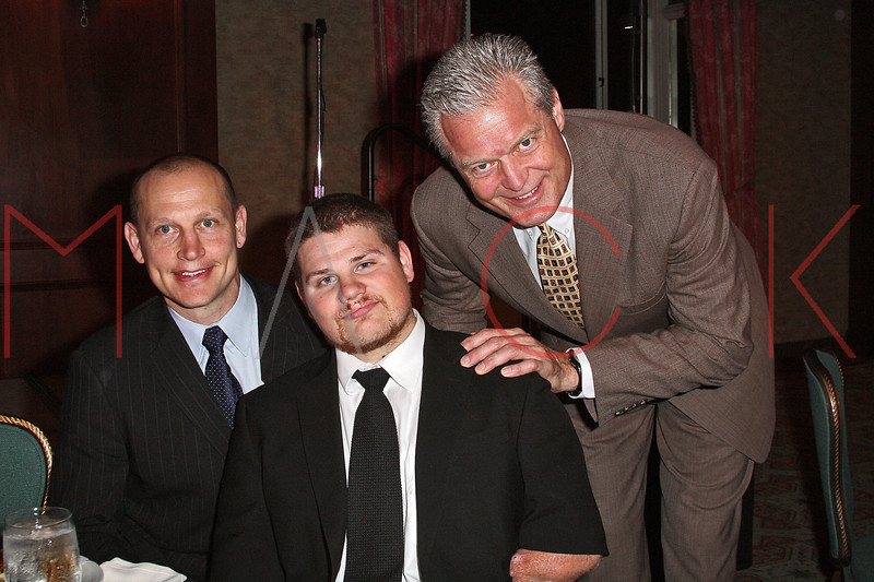 NEW YORK - APRIL 26:  Former New York Ranger and Nancy Ford Springer Inspiration Award recipient Adam Graves, Para-Olympic Gold Medalist, Nick Springer and professional football player Bart Oates attend the 2nd Annual National Meningitis gala at the New York Athletic Club on April 26, 2010 in New York City.  (Photo by Steve Mack/S.D. Mack Pictures) *** Local Caption *** Adam Graves; Nick Springer; Bart Oates