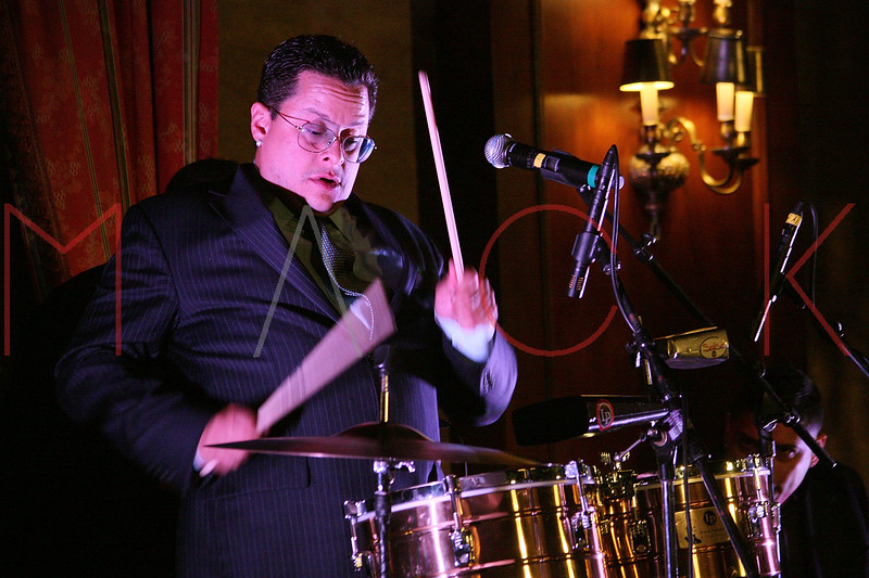 NEW YORK - APRIL 26:  Musician Tito Puente, Jr. performs on stage at the 2nd Annual National Meningitis gala at the New York Athletic Club on April 26, 2010 in New York City.  (Photo by Steve Mack/S.D. Mack Pictures) *** Local Caption *** Tito Puente; Jr.