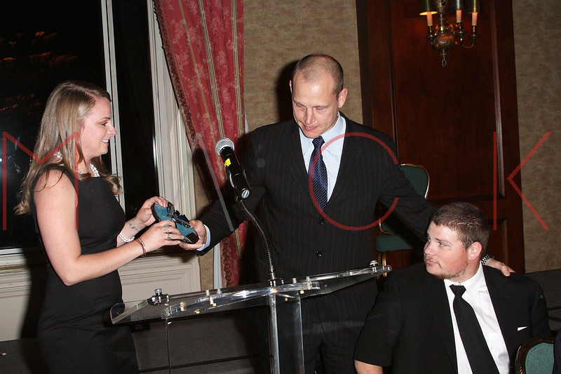 NEW YORK - APRIL 26:  Olivia Springer, former New York Ranger and Nancy Ford Springer Inspiration Award recipient Adam Graves and Para-Olympic Gold Medalist, Nick Springer attend the 2nd Annual National Meningitis gala at the New York Athletic Club on April 26, 2010 in New York City.  (Photo by Steve Mack/S.D. Mack Pictures) *** Local Caption *** Olivia Springer; Adam Graves; Nick Springer