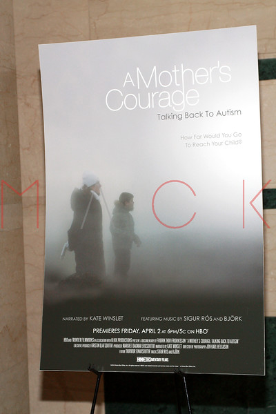 New York premiere of A Mother's Courage: Talking Back to Autism, New York, USA