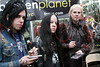NEW YORK - OCTOBER 11:  Piggy D, Joey Jordison and John 5 sign copies of Hellbilly Deluxe 2 and Royal Flush Magazine Volume 7 at Forbidden Planet on October 11, 2010 in New York City.  (Photo by Steve Mack/S.D. Mack Pictures) *** Local Caption *** Piggy D; Joey Jordison; John 5
