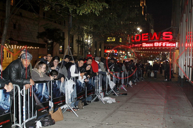 "NEW YORK - OCTOBER 20:  Moviegoers attend the ""Paranormal Activity 2"" screening at AMC Loews 34th Street 14 theater on October 20, 2010 in New York City.  (Photo by Steve Mack/S.D. Mack Pictures)"