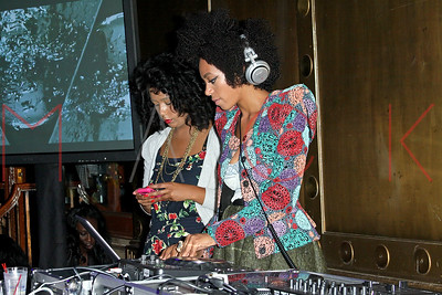 New York, NY - September 12:  DJ, Solange Knowles, performs on stage at the Grey Goose Rising Icons series, New York, USA.