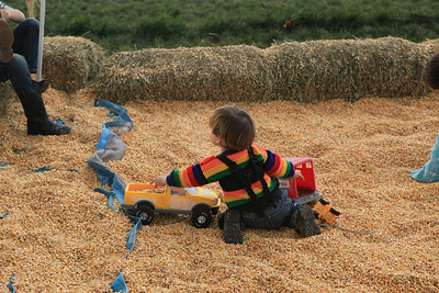 Playing in the corn pit