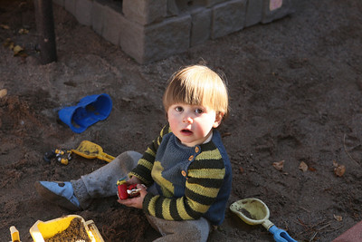 Luke enjoyed the awesome sandbox