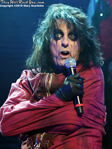 "Alice Cooper performs on October 16, 2010 on the ""Halloween Hootenany Tour"" stop at the DCU Center in Worcester, Massachusetts."