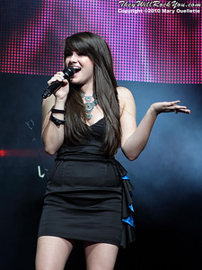 Katie Stevens performs during the American Idol Live show at the Comcast Center on July 18, 2010 in Mansfield, MA.