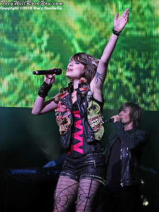Siobhan Magnus performs during the American Idol Live show at the Comcast Center on July 18, 2010 in Mansfield, MA.