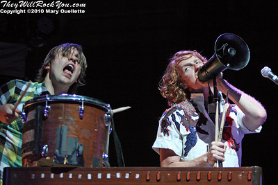 Arcade Fire performs at the Bank of America Pavilion on August 1, 2010 in Boston, MA.