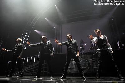 Backstreet Boys perform at The Mohegan Sun Arena In Uncasville, CT on June 15, 2010.