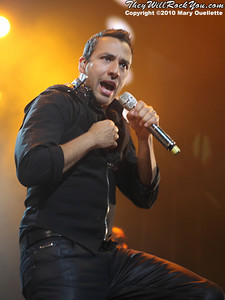 Howie Dorough of the Backstreet Boys performs at The Mohegan Sun Arena In Uncasville, CT on June 15, 2010.