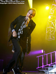 Brian Littrell of the Backstreet Boys performs at The Mohegan Sun Arena In Uncasville, CT on June 15, 2010.