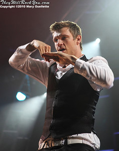 Nick Carter of the Backstreet Boys performs at The Mohegan Sun Arena In Uncasville, CT on June 15, 2010.