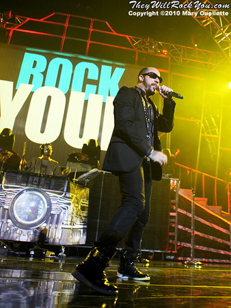 A.J. McLean of the Backstreet Boys performs at The Mohegan Sun Arena In Uncasville, CT on June 15, 2010.