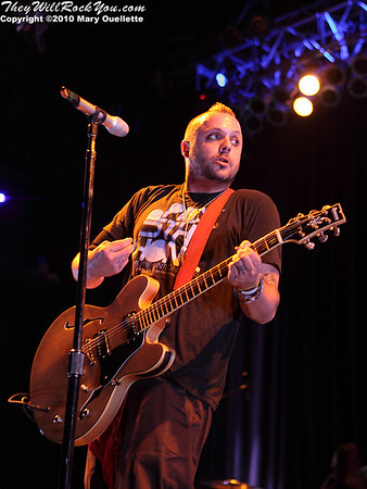 """Blue October headlines the """"Pick Up The Phone Tour"""" for sucide prevention at the House of Blues in Boston, Massachusetts on April 14, 2010."""