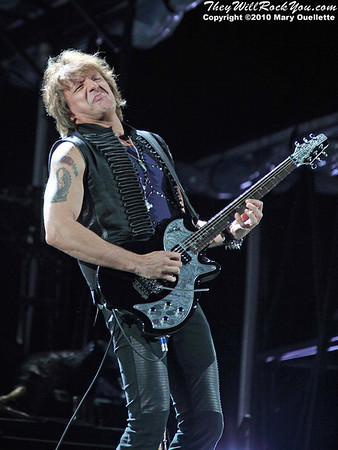 "Richie Sambora of Bon Jovi performs on their  ""Circle Tour"" on July 24, 2010 at Gillette Stadium in Foxboro, MA."