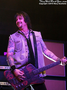Eric Brittingham of Cinderella performs on July 14, 2010 at the Hampton Beach Club Casino in Hampton Beach, NH.