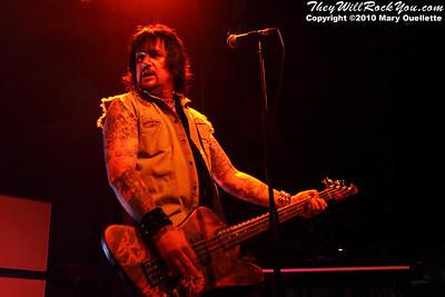 Eric Brittingham of Cinderella performs on July 14, 2010 at the Hampton Beach Club Casino in Hampton Beach, NH.