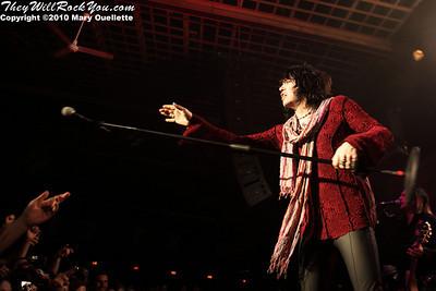 Tom Keifer of Cinderella performs on July 14, 2010 at the Hampton Beach Club Casino in Hampton Beach, NH.
