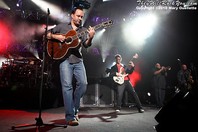 Dave Matthews Band performs at The Comcast Center in Mansfield, MA on June 7, 2010.