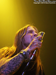 Drowning Pool performs at the Tsongas Center in Lowell, MA on October 8, 2010.