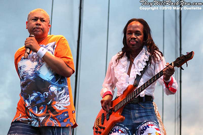 Earth, Wind & Fire perform at The Beale Street Music Festival in Memphis, TN on May 2, 2010.