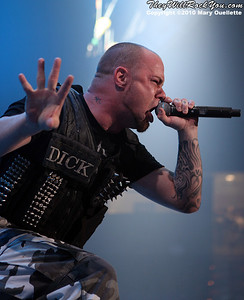 Five Finger Death Punch performs on October 8, 2010 at the Tsongas Arena in Lowell, MA.