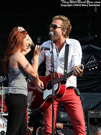 Gloriana performs at Gillette Stadium in Foxboro, MA on June 5, 2010.