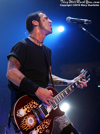 Godsmack performs on October 8, 2010 at the Tsongas Arena in Lowell, MA.