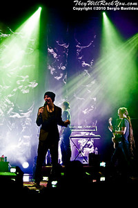 HIM performing live on the stage of The Wiltern on Friday night, April 23, 2010 in Los Angeles, Calif. (Photo by Sergio Bastidas(Sini69 Photography)/Brooks Institute, ©2010)
