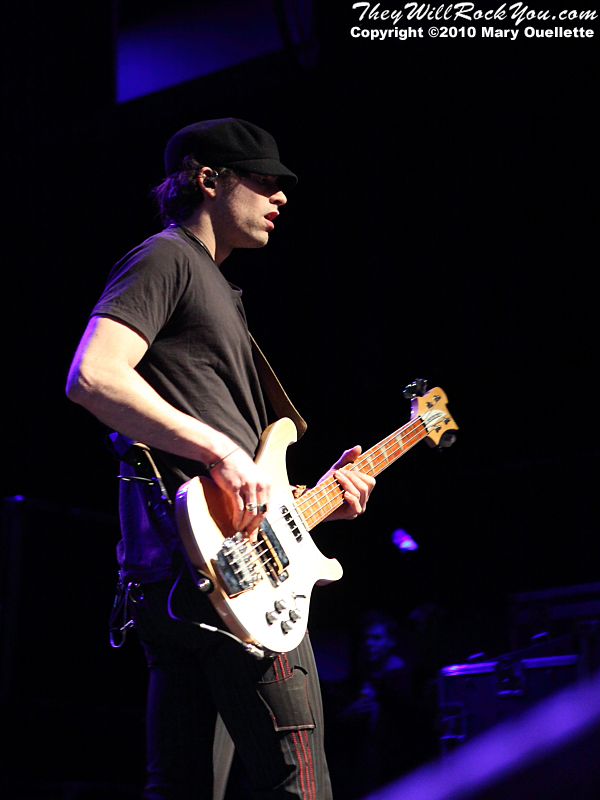 Josh Smith of Halestorm performs in support of the band's self-titled debut album at the House of Blues on January 31, 2010 in Boston, MA