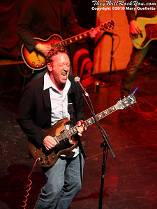"Guitarist Bill Janovitz joins an all star jam with ""Buffalo Theo"" (members of Buffalo Tom, J. Giels band, and Boston Red Sox GM Theo Epstein) at the Hot Stove Cool Music Benefit Show in Boston at the House of Blues on January 9, 2010"
