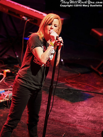 Kay Hanley (Letters to Cleo)  performs at the Hot Stove Cool Music Benefit Show in Boston at the House of Blues on January 9, 2010