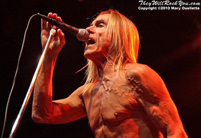 Iggy and The Stooges perform on August 31, 2010 at the House of Blues in Boston, Massachusetts.