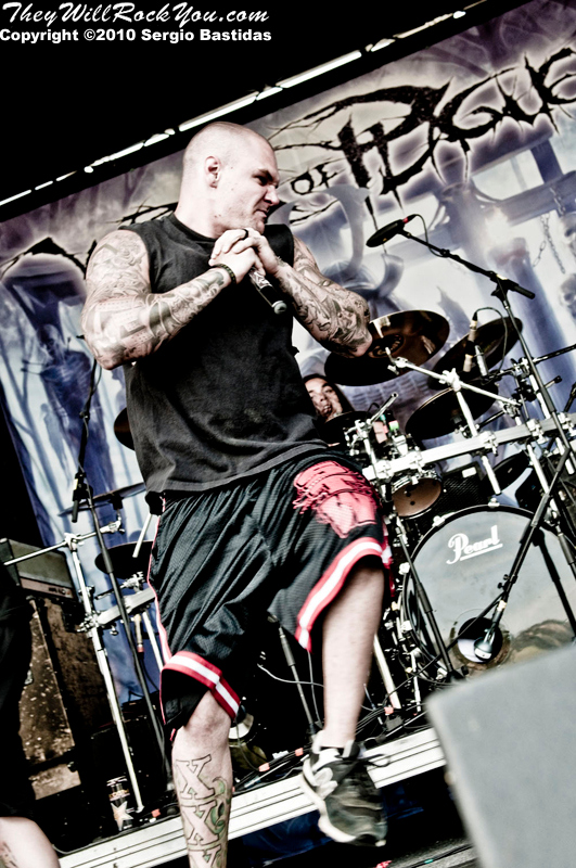 Winds of Plague performs live on the main stage at The Mayhem Fest in San Bernardino, Calif. on Saturday afternoon, July 10, 2010. (Photo by Sergio Bastidas/Sini69 Photography, ©2010)