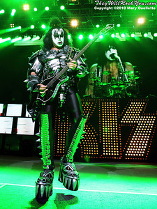 """Gene Simmons of KISS performs on August 7th, 2010 in support of their """"HOttest Show On Earth Tour"""" at The Comcast Center in Mansfield, Massachusetts"""