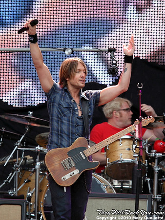 Keith Urban performs at Gillette Stadium in Foxboro, MA on June 12, 2010.