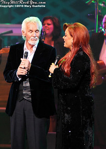 "Kenny Rogers & Wynonna Judd performing at the ""Kenny Rogers the First 50 Years Television Special"" Concert at The MGM Grand Theater in Mashantucket, CT on April 10, 2010"