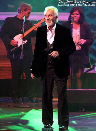 "Kenny Rogers performing at the ""Kenny Rogers the First 50 Years Television Special"" Concert at The MGM Grand Theater in Mashantucket, CT on April 10, 2010"
