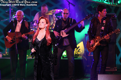 "Wynonna Judd performing at the ""Kenny Rogers the First 50 Years Television Special"" Concert at The MGM Grand Theater in Mashantucket, CT on April 10, 2010"