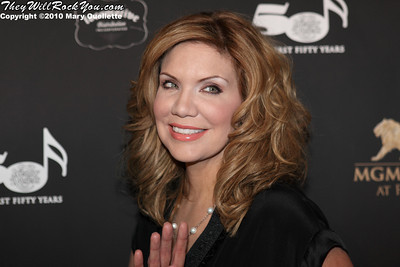 "Alison Krauss on the red carpet for ""Kenny Rogers the First 50 Years"" Television Special at The MGM Grand Theate rin Mashantucket, CT on April 10, 2010."