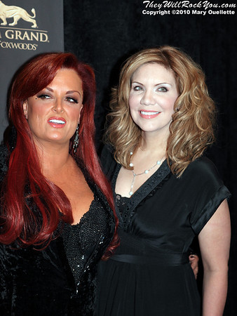 """Wynonna Judd & Alison Krauss on the red carpet for """"Kenny Rogers the First 50 Years"""" Television Special at The MGM Grand Theate rin Mashantucket, CT on April 10, 2010."""