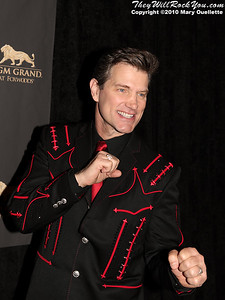 "Chris Isaak on the red carpet for ""Kenny Rogers the First 50 Years"" Television Special at The MGM Grand Theate rin Mashantucket, CT on April 10, 2010."