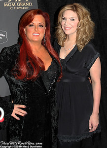 "Wynonna Judd & Alison Krauss on the red carpet for ""Kenny Rogers the First 50 Years"" Television Special at The MGM Grand Theate rin Mashantucket, CT on April 10, 2010."